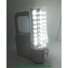 Фонарь аккумуляторный KM-7618C 32 +1 LED Светодиодный светильник - фонарик с аккумулятором 4000 mAH