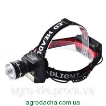 Фонарь налобный Police 12V T929A-T6+COB Zoom