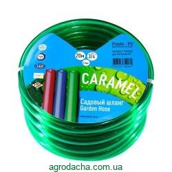 Шланг для полива Evci Plastik Софт Силикон (Caramel зеленый) садовый диаметр 3/4 дюйма, длина 20 м (CAR-3/4 50)