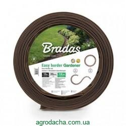 Бордюр газонный с колышками Bradas 10 м коричневый (OBEB3810SET)