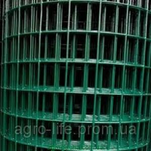 Сетка сварная оцинкованная в полимерном покрытии ячейка 50*50 мм, 2 мм. размер 2*25 м