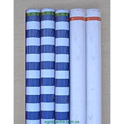 Палаточная ткань 135Т, бело-синяя