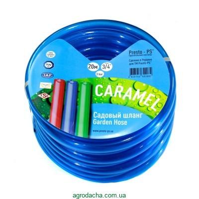 Шланг для полива Evci Plastik Софт Силикон (Caramel синий) садовый диаметр 1/2 дюйма, длина 50 м (CAR B-1/2 50)