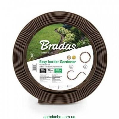 Бордюр газонный с колышками Bradas 10 м коричневый